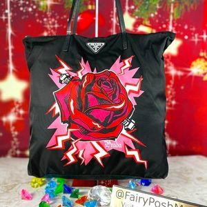 Prada Frankenstein Rose Tote Bag